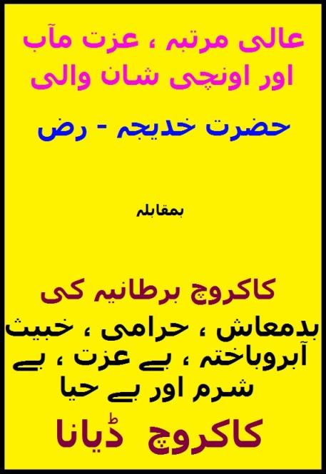 Honourable Hazrat Khadija (RA)_vs_Badmaash, Harami & Khabees Lady Diana-3
